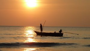 Thailand fishing-at-sunset